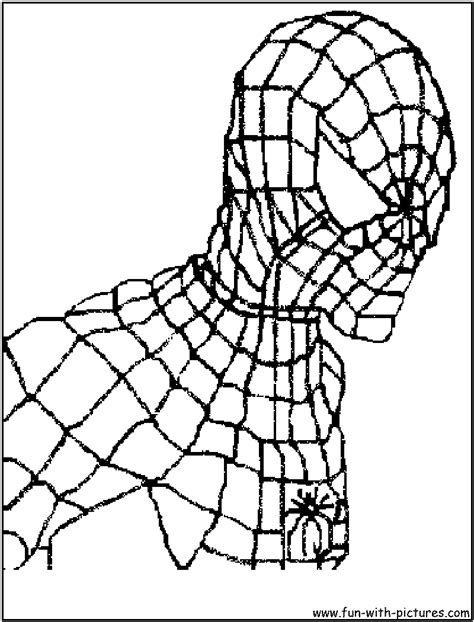 spiderman face coloring page free face spider man coloring pages