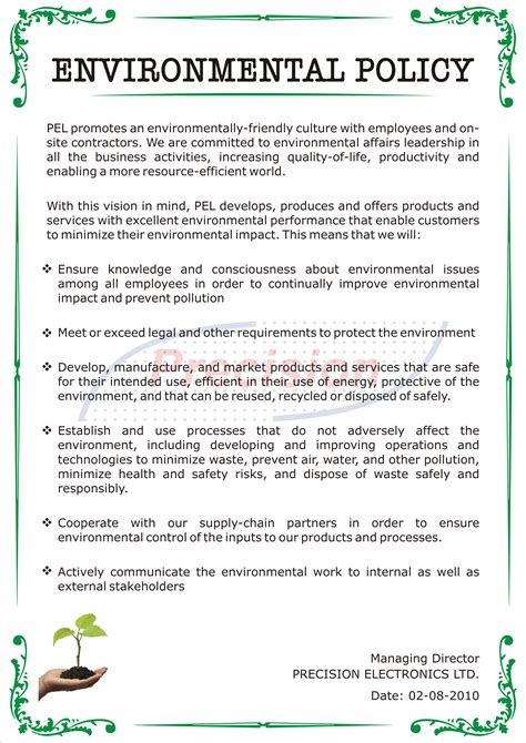 environmental policy design environmental policy