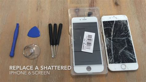 replace  shattered iphone  screen youtube
