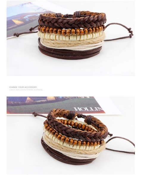 Gelang Kulit gelang bangle kulit vintage model rope wood