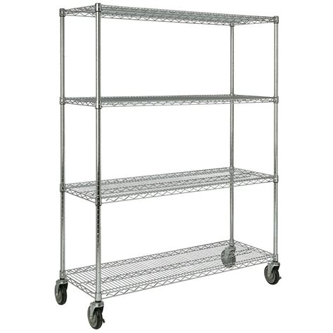 rubbermaid fg9g8000 chrm 4 shelf safety storage rack