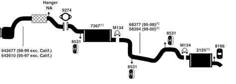 ford contour exhaust diagram from best value auto parts