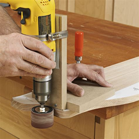woodworking jigs shop made portable drum sander jig woodworking plan from wood magazine