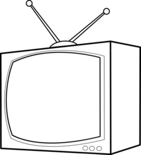 Tv Clipart Image Television Coloring Page Tv Coloring Pages