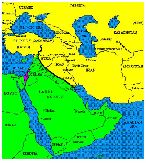 middle east map euphrates river map of the euphrates river and the nations it divides