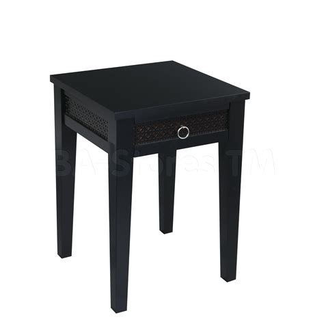 small black desk with drawers square black wooden side table with drawers on four black