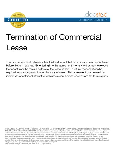 termination letter to landlord commercial lease early termination letter to landlord sle mercial