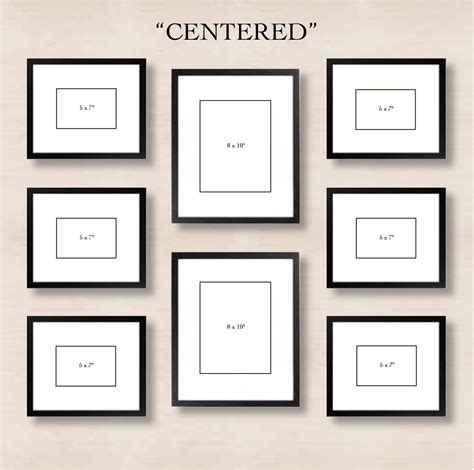 picture gallery wall template pottery barn wall gallery template studio design