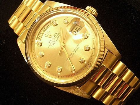 mens rolex day date president 18k yellow gold w gold