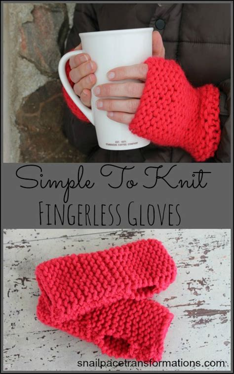cool knitting projects for beginners simple to knit fingerless gloves