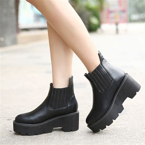 high flat platform shoes 2014 autumn and winter boots casual thick heel boots