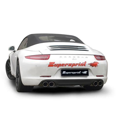 porsche exhaust system performance sport exhaust for porsche 991