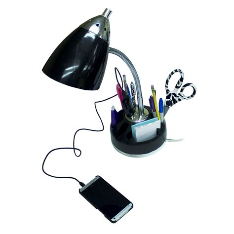 desk l with outlet and organizer organizer desk l with charging outlet black all the