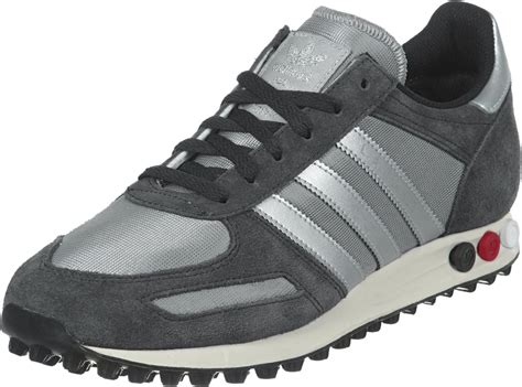 adidas sneaker trainers adidas la trainer textile shoes grey silver