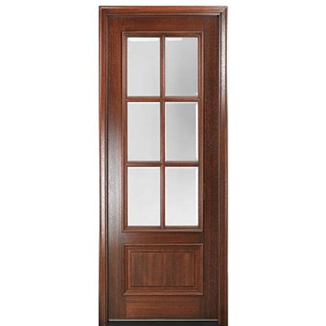 Exterior Door Bottom Mai Doors Dd86l 1 True Divided Lite 8 0 Quot 6 Lite Panel Bottom Mahogany Exterior Single