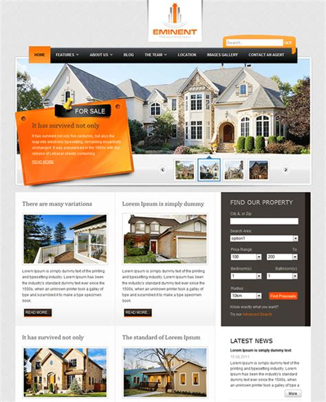 10 Of The Best Joomla Real Estate Templates Down Website Templates For Real Estate Agents Free