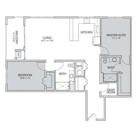 2 bedroom 2 bath apartment floor plans floor plan e2 greenbelt apartments