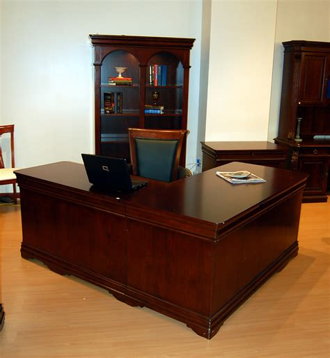 Mahogany L Shaped Desk Mahogany L Shaped Executive Computer Office Desk Ebay