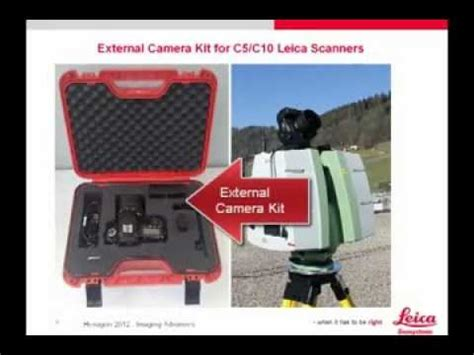 overview of the external camera kit leica scanstation