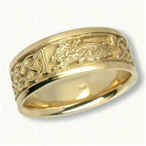 celtic animal knot wedding rings custom celtic wedding