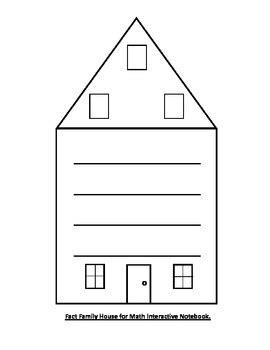 fact family house fact family house for interactive math notebook by lights camera learn