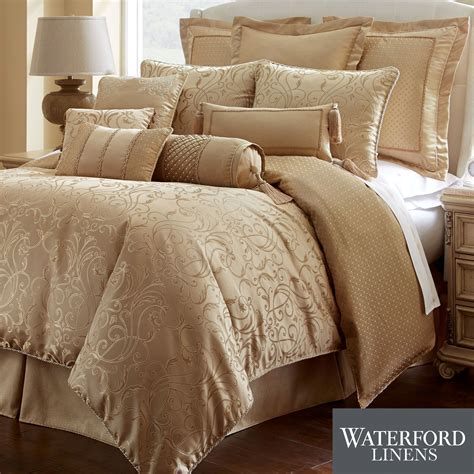 lynath gold comforter bedding by waterford linens