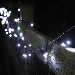 White Patio Lights 100 White Led Solar Lights 10 Metre String