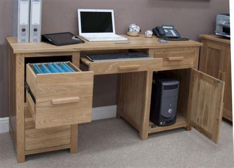 Oak Computer Desk Uk Buy Homestyle Gb Opus Oak Computer Desk Large Cfs Uk