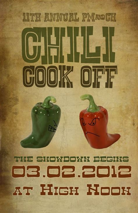 chili cook flyer template chili cook flyer template template design