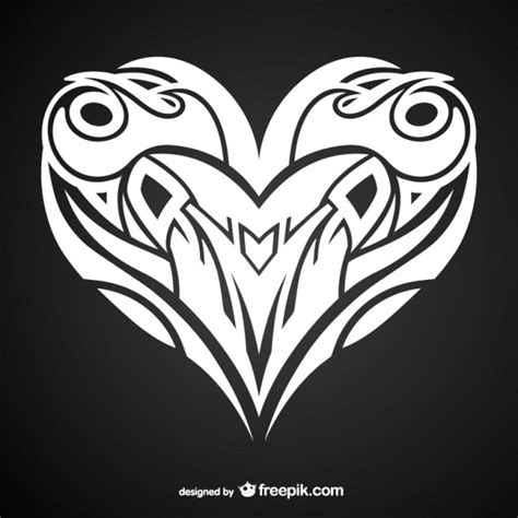 heart tattoos vector heart tattoo design vector free download