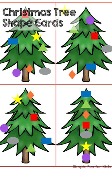 christmas tree with shapes printable christmas countdown day 17 christmas tree shape cards