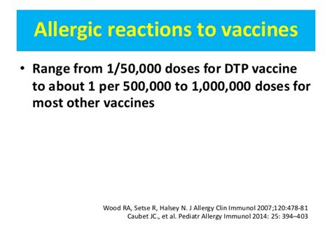 reaction to vaccine adverse reactions to vaccines for infectious diseases