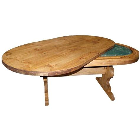 convertible poker dining table  million dollar rustic