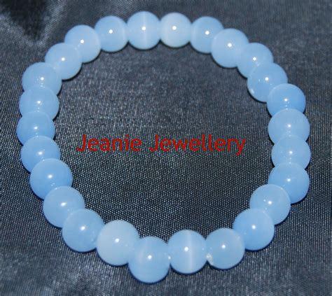 light blue bracelet light blue glass bead bracelet