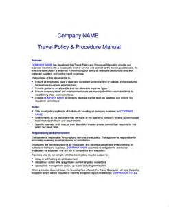 Travel Policy Template by Sle Travel Policy Template 9 Free Documents