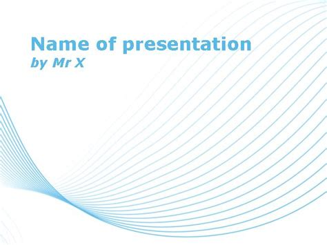 theme line powerpoint blue lines over white background powerpoint template