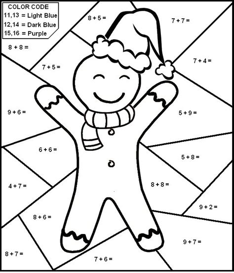 addition color by number free printable math coloring pages for best