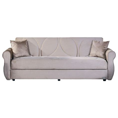 microsuede sleeper sofa have to have it istikbal melody rainbow dark beige