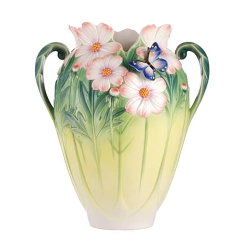 franz porcelain vase franz porcelain cosmos of color butterfly vase