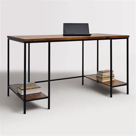 metal desk wood and metal williard desk world market