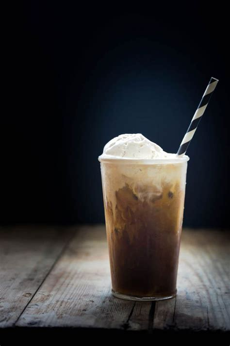 Coffee Float cold brew coffee float on a sweet sugar coffee