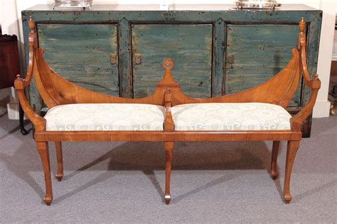 courting bench old english hepplewhite style quot courting bench quot in walnut