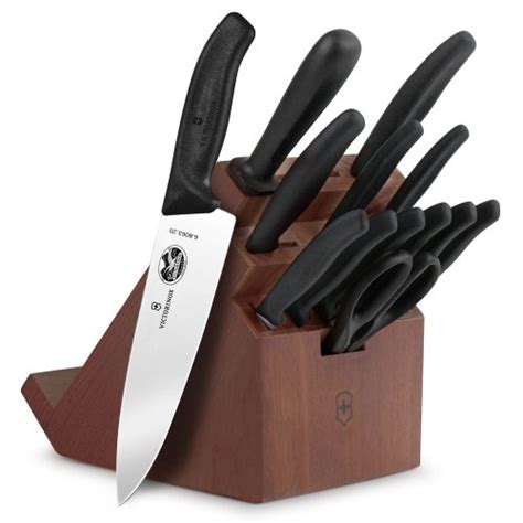 victorinox knife block set 9 swiss classic victorinox forshner swiss classic 14 knife block set