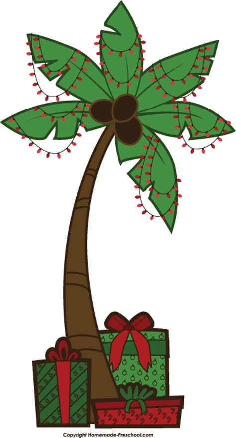 christmas palm tree clipart clipart suggest