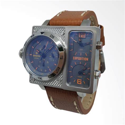 Jam Tangan Pria Gc Crono Aktif Leather Expedition Fossil Rolex Q Q jual expedition analog tali kulit jam tangan pria silver coklat 140757 harga