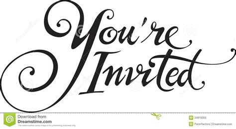 You Re Invited Clipart Clipart Suggest You Re Invited Template Word