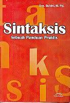 Pengantar Sintaksis Indonesia toko buku rahma pusat buku pelajaran sd smp sma smk