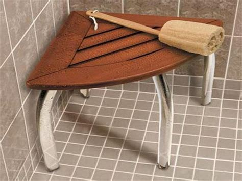 Teak Stool Shower by Home Remodeling Ideas Room Saver Tips Teak Corner