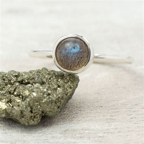pastel shade gemstone silver stacking ring by alison