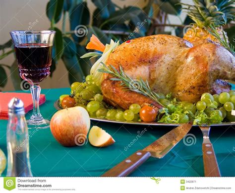 Turkey On The Table by Turkey On Table Stock Image Image 3422871